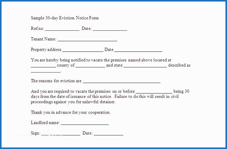 30 Day Eviction Notice Template Great 30 Day Notice To Vacate Template