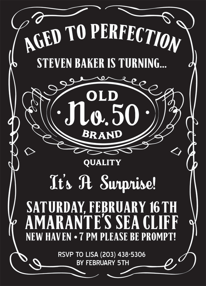 50th Birthday Invitation Templates Printable Of 50th Birthday Party Invitations For Men