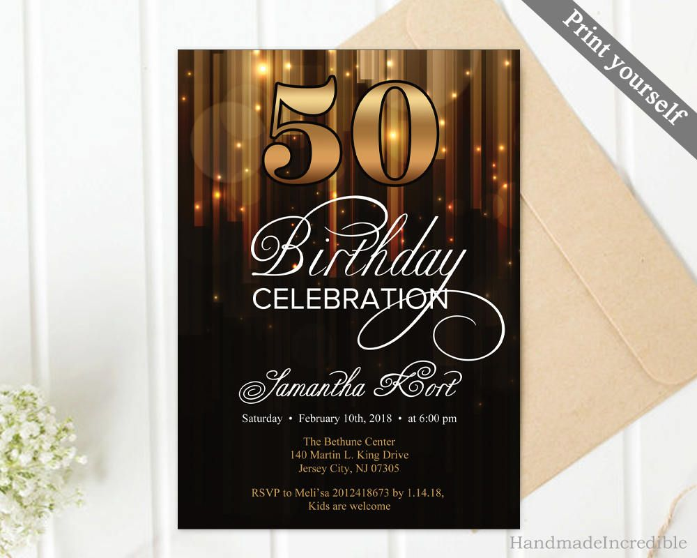 50th Birthday Invitation Templates Microsoft Word