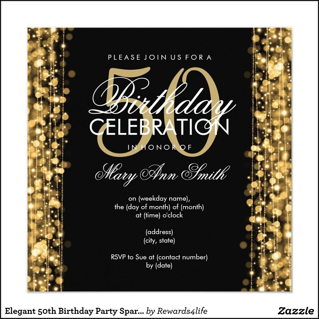 50th Birthday Invitation Templates Word Free