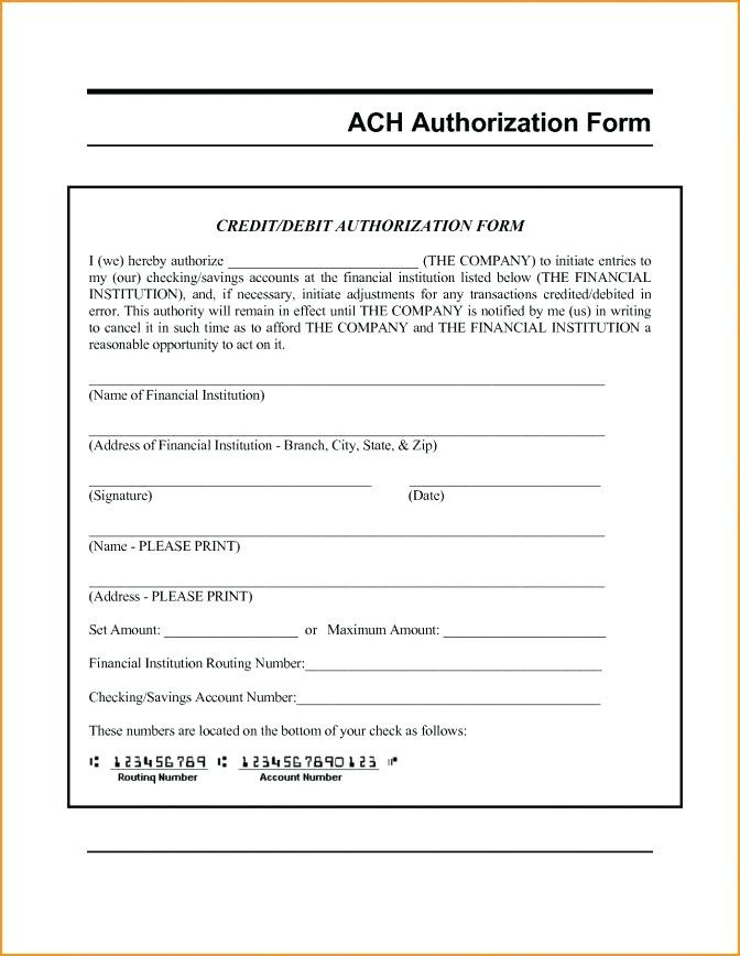 Ach Form Template Free
