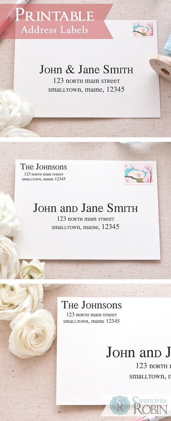 Address Label Templates For Wedding Invitations