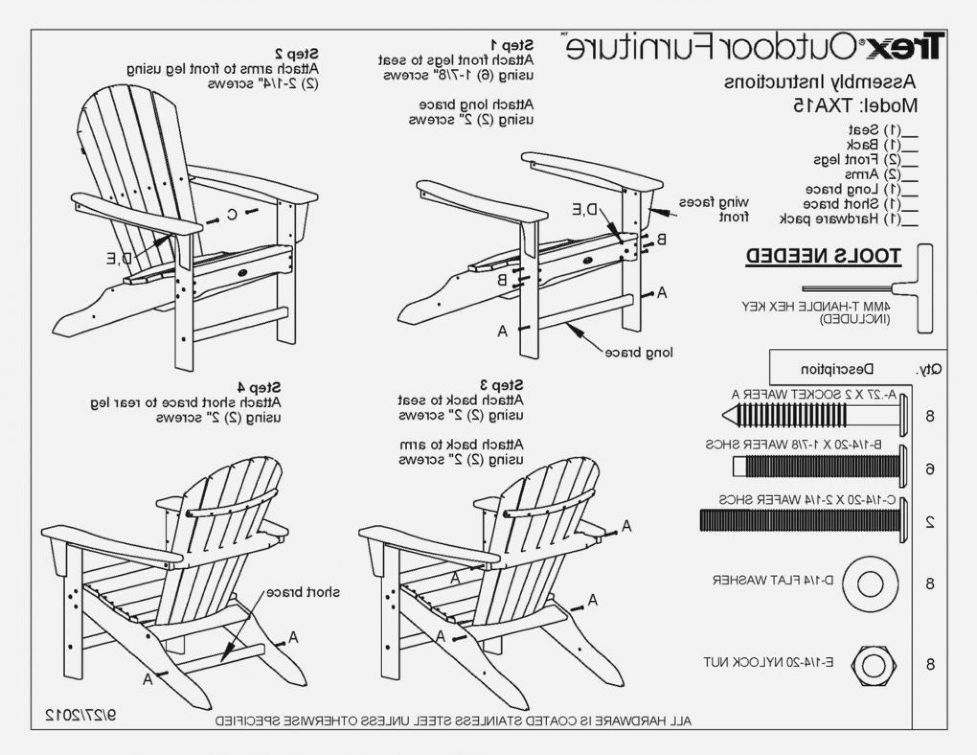 Adirondack Chair Template Mdf