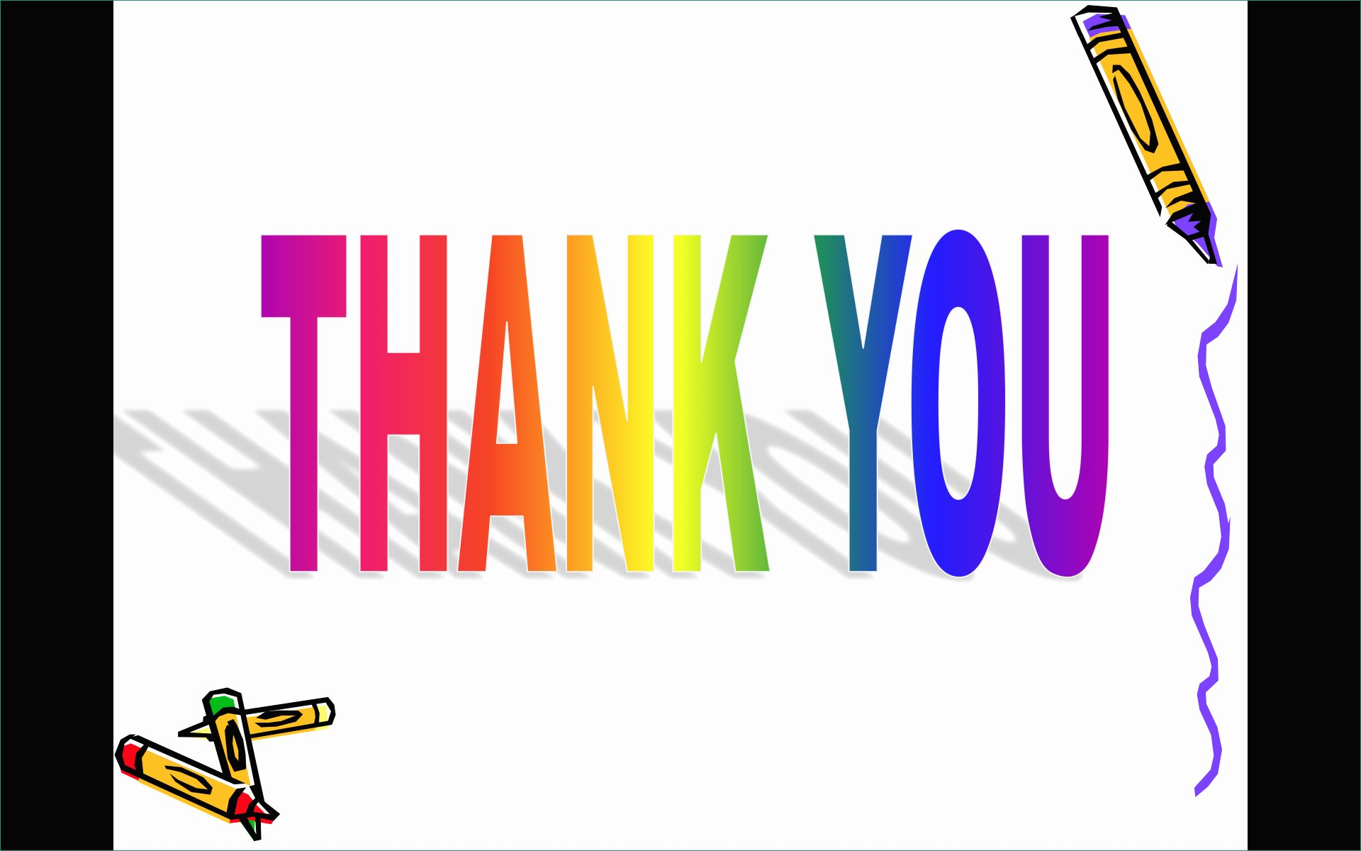 Animated Powerpoint Templates Thank You Clipart