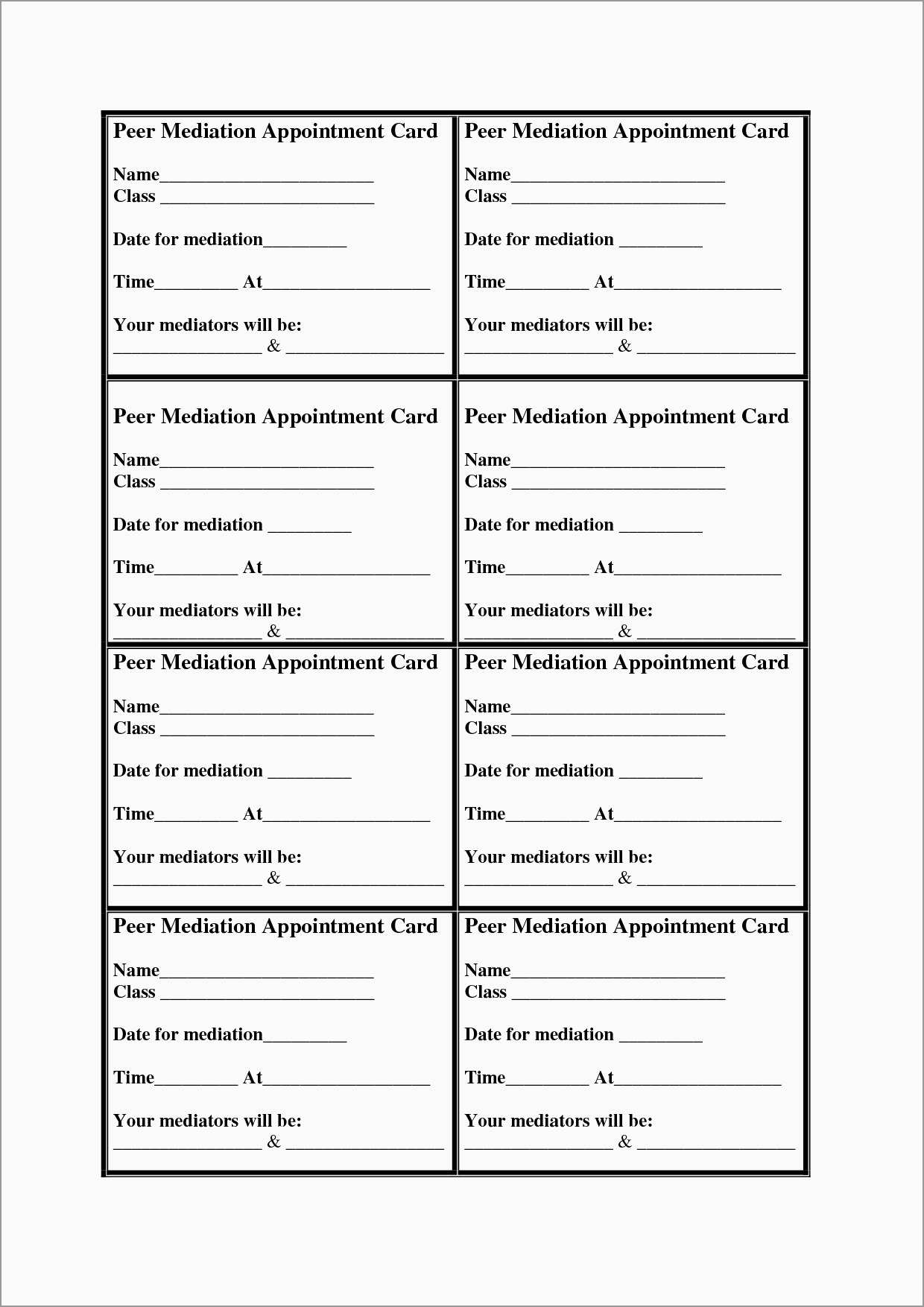 Appointment Reminder Cards Template Free Unique 7 Best Of Free Printable Appointment Cards Free