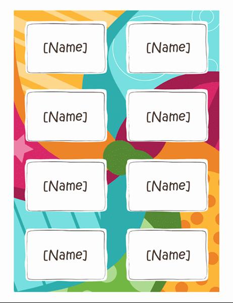 Avery Name Tag Template Free Printable