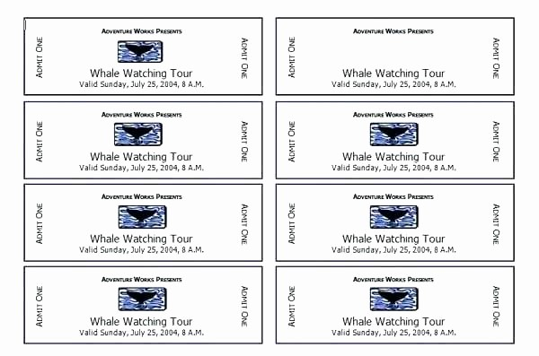 Avery Ticket Templates 8 Per Page