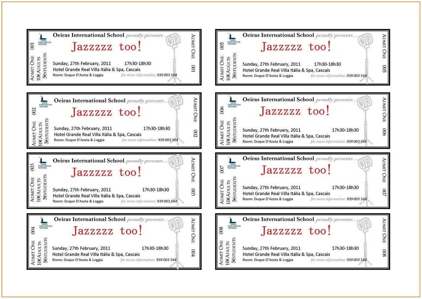 Avery Ticket Templates 8 Per Sheet