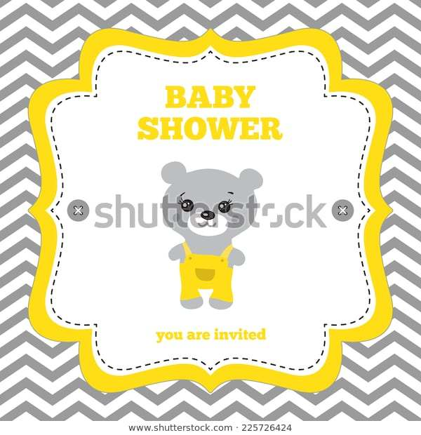 Baby Shower Invitation Template Yellow And White