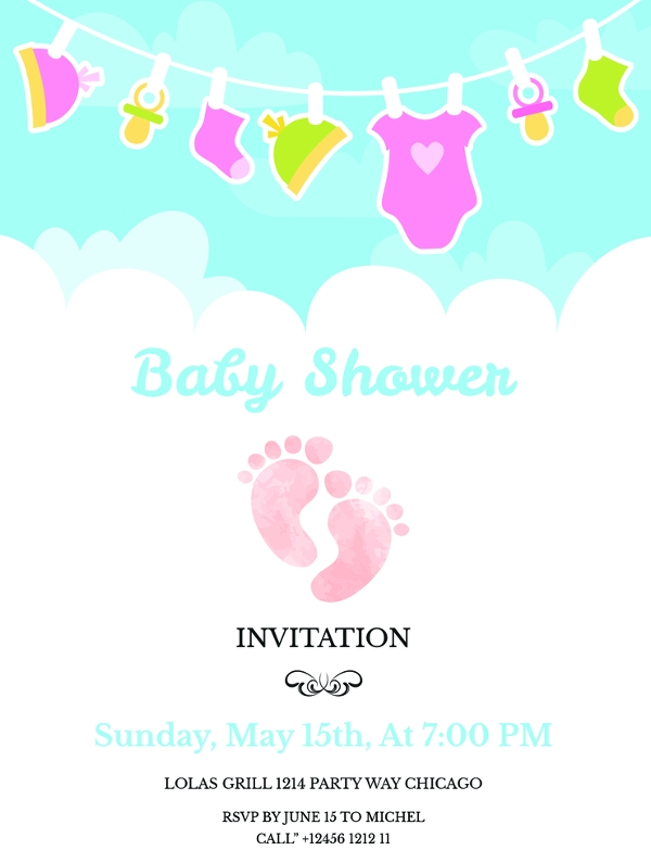 Baby Shower Invitation Templates India