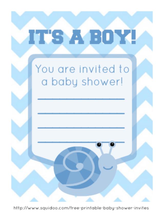 Baby Shower Invite Template Boy