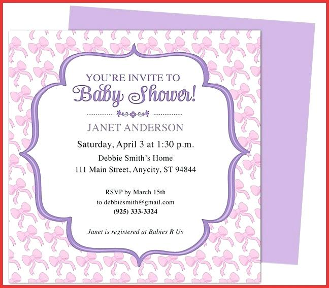 Baby Shower Invite Template For Word