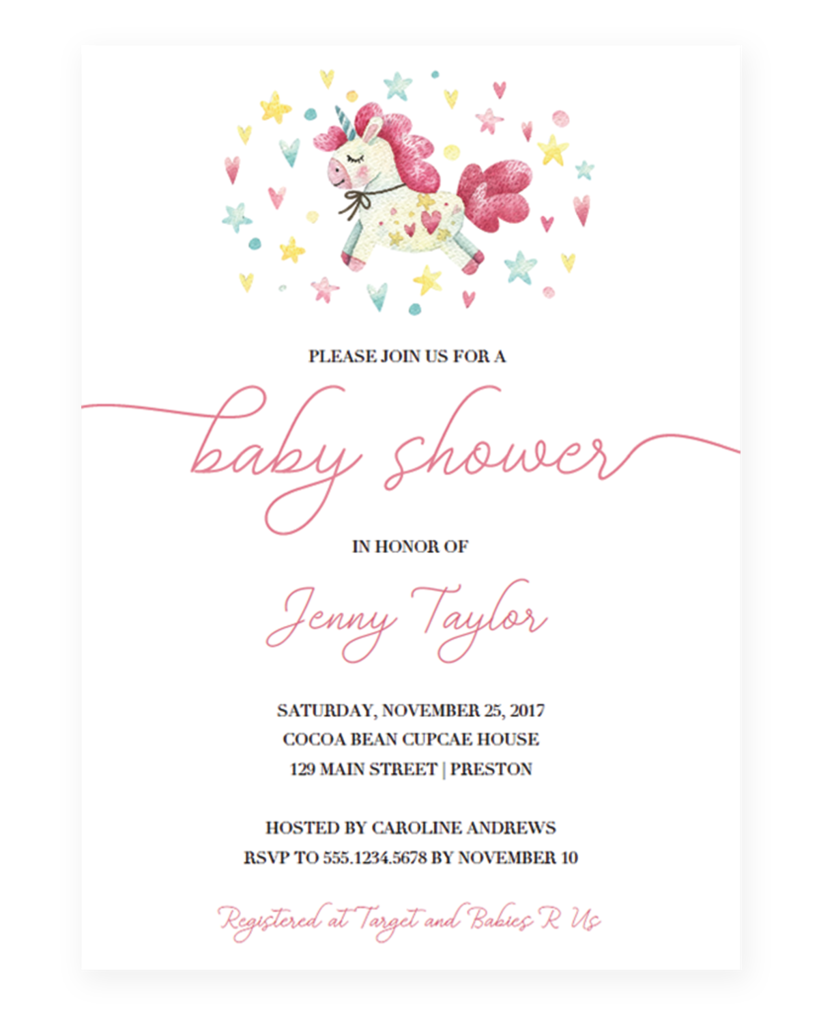 Baby Shower Invite Template Free Download