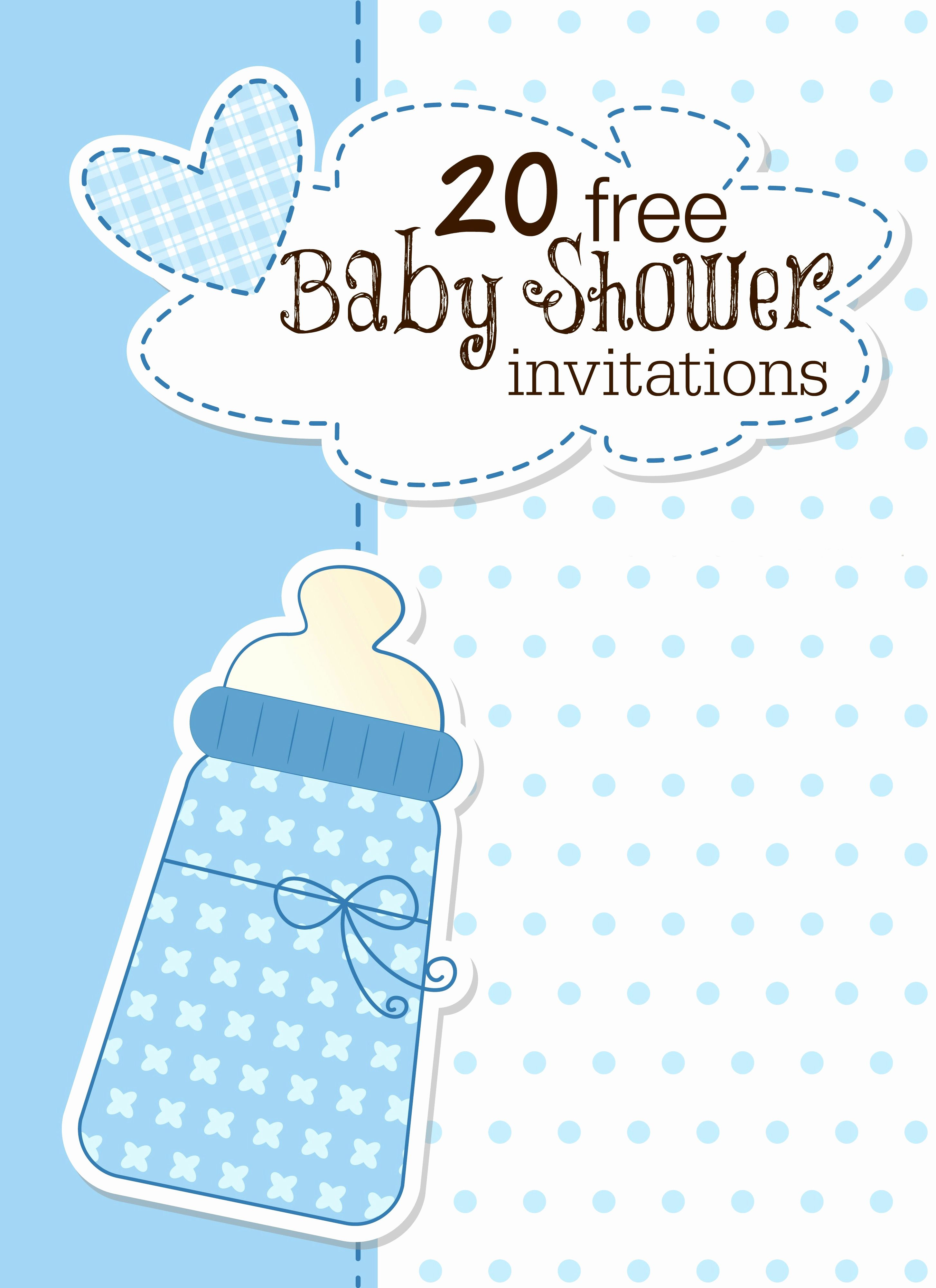 Baby Shower Invite Template Free