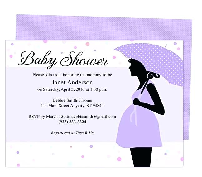 Baby Shower Invite Template Indian