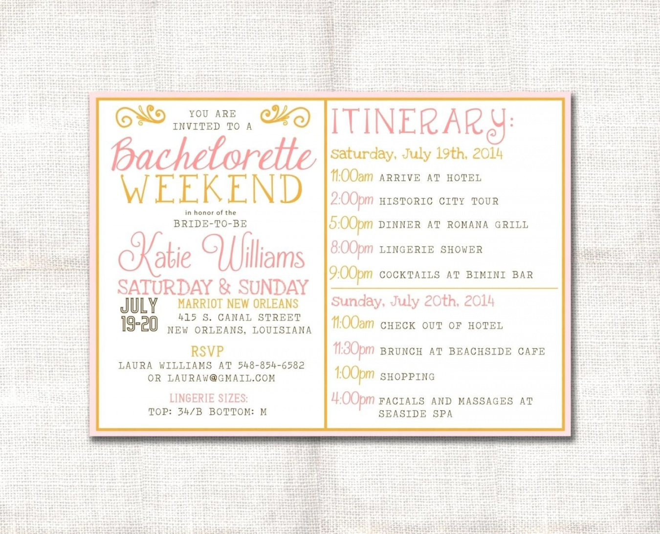 Template Bachelorette Party Agenda Template Zoom Free Wedding Bachelorette Party Itinerary Template Pdf