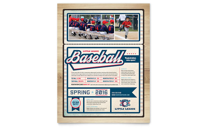 Baseball Flyer Template Word