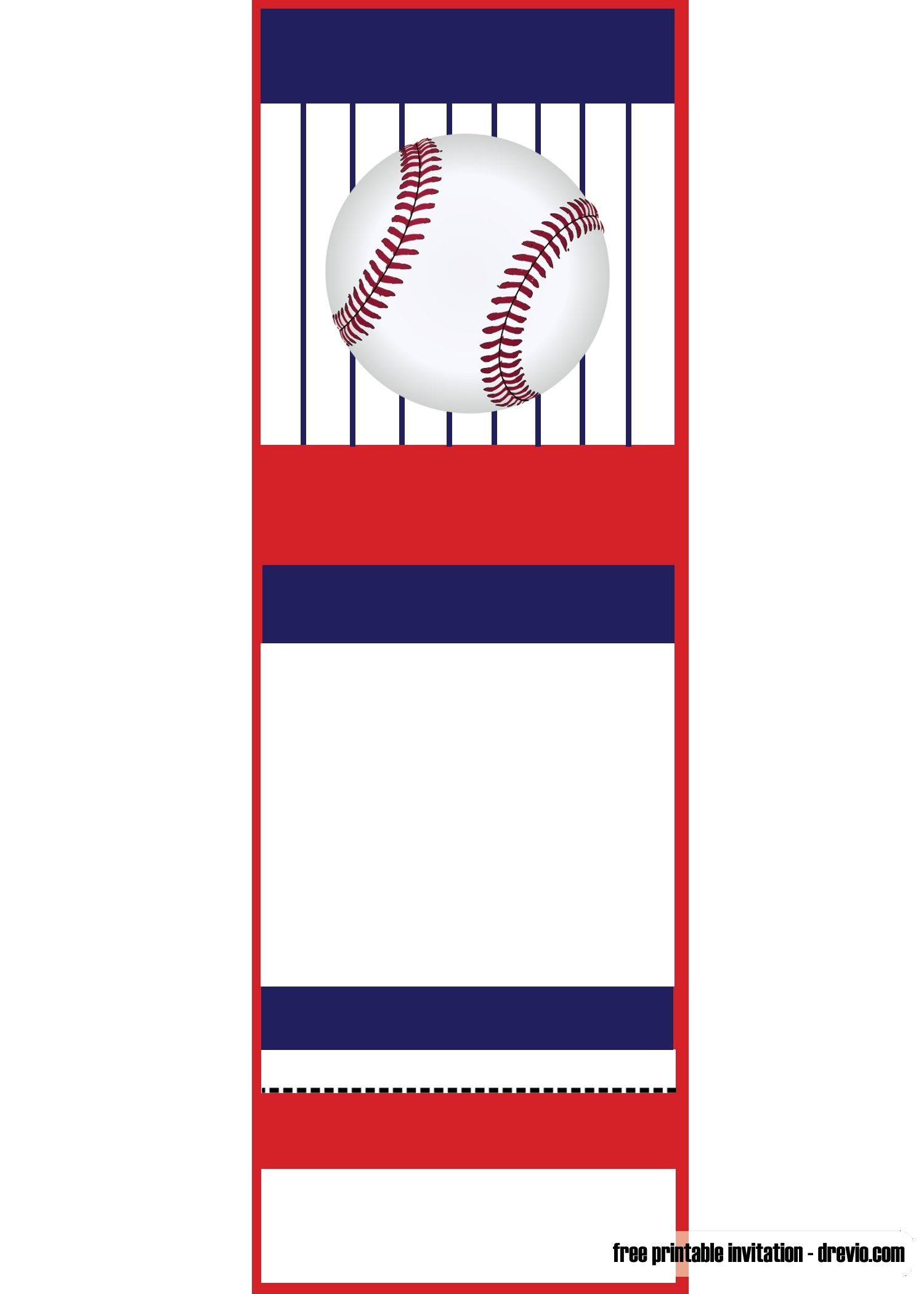 Baseball Ticket Template Free