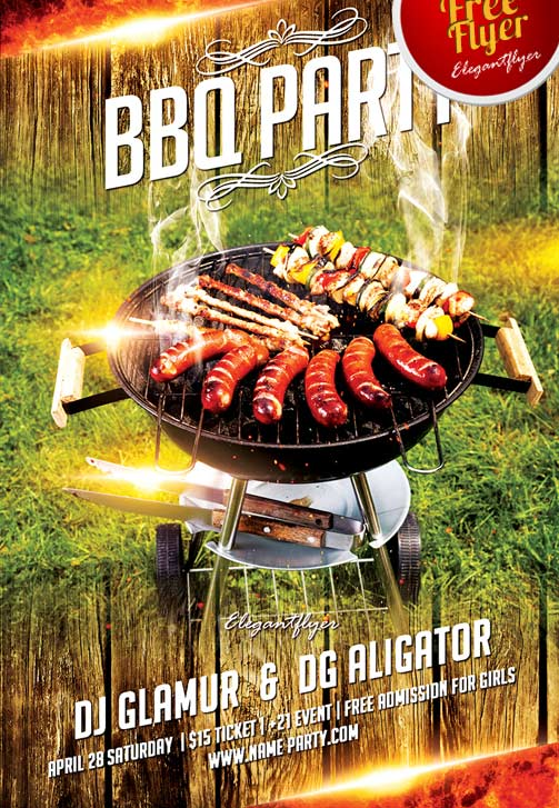 Bbq Party Flyer Template Free