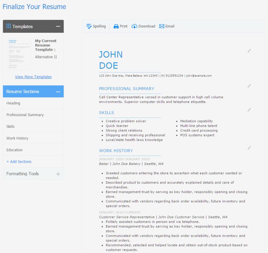 Best Resume Builder App For Windows 10