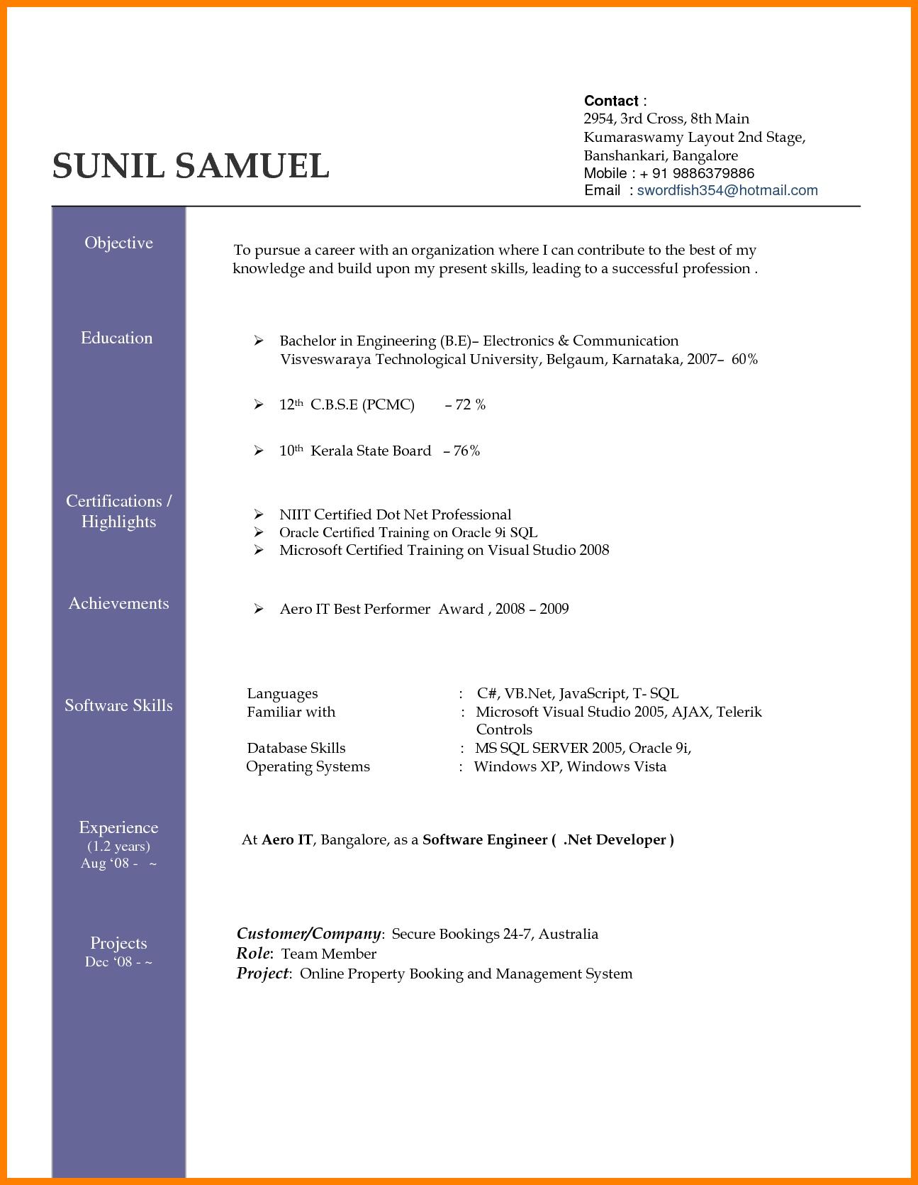 Best Resume Download Doc