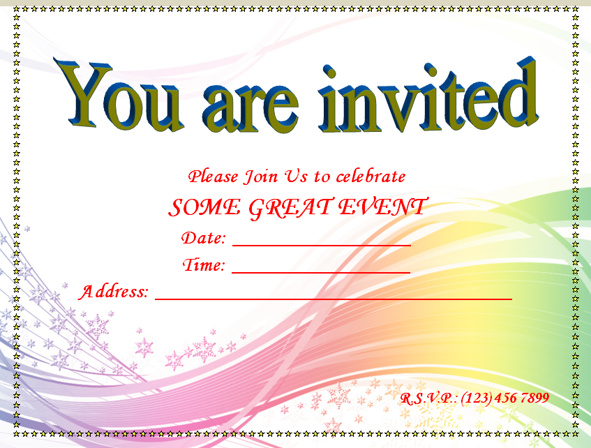 Birthday Invitation Templates Blank