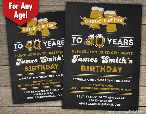 Birthday Invitation Templates For Men