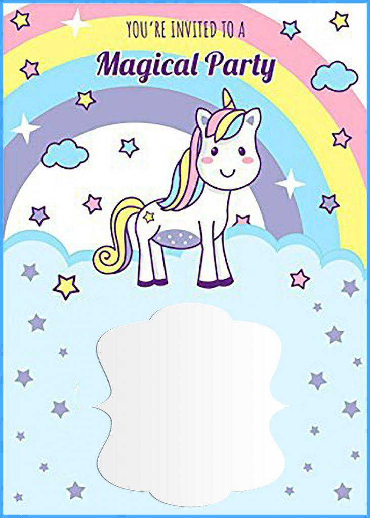 Birthday Invitation Templates Unicorn