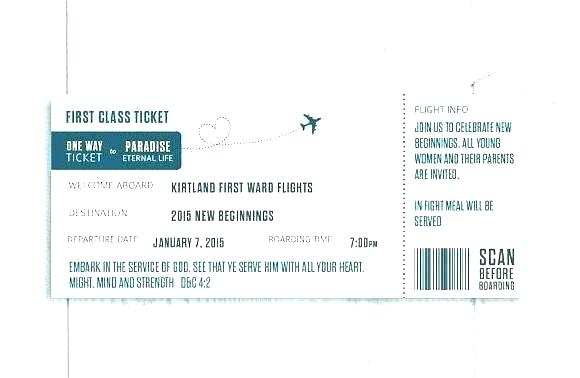 Blank Boarding Pass Invitation Template