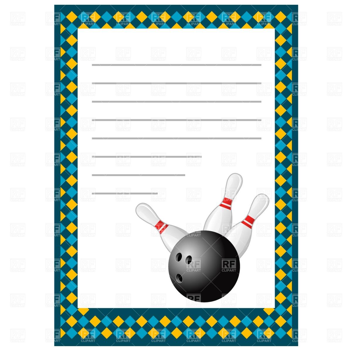 Blank Bowling Invitation Template