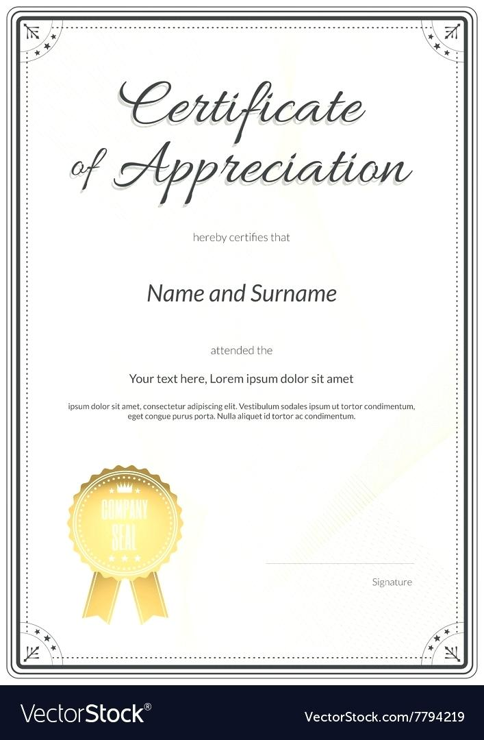 Blank Certificate Of Appreciation Templates Free Download