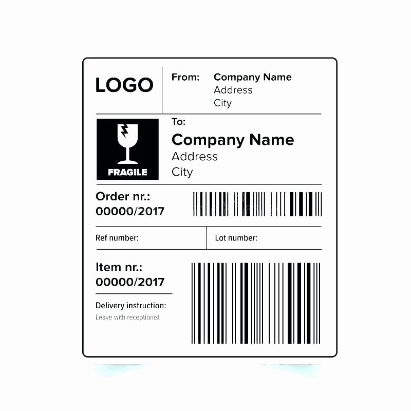 Blank Mailing Label Template