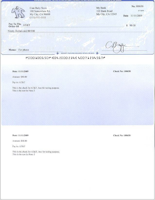 Blank Payroll Check Template