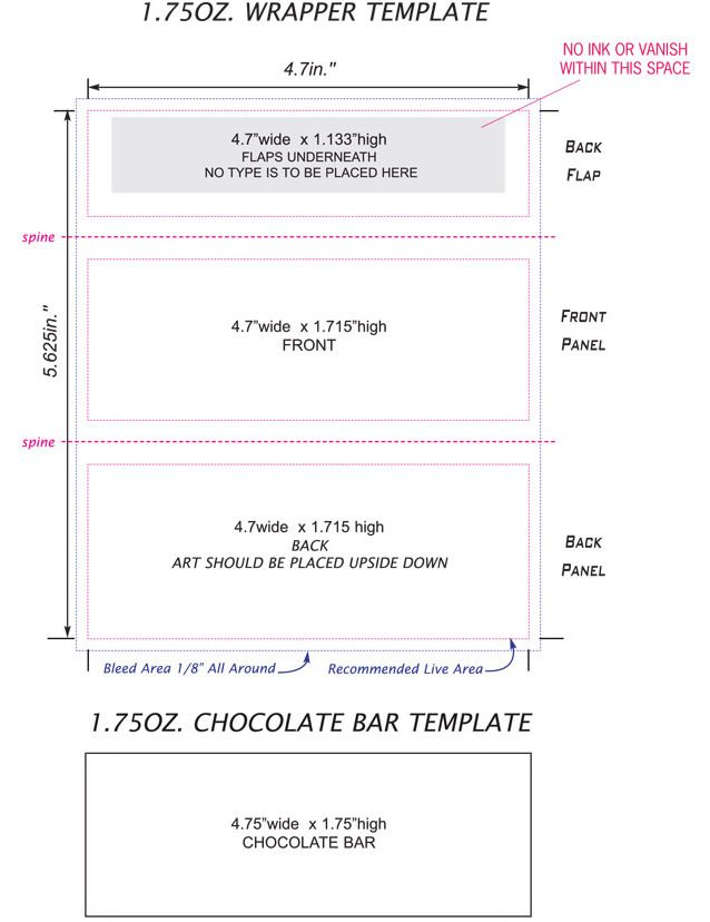 Candy Bar Wrapper Template Free
