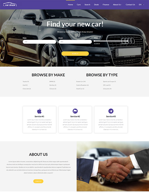 Car Dealer Website Templates Free Download