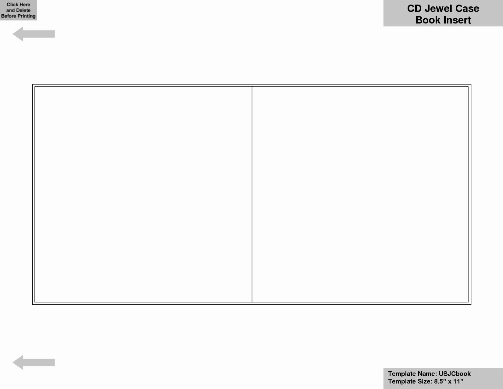 Free Printable Cd Sleeve Template Or Blank Cd Template Word