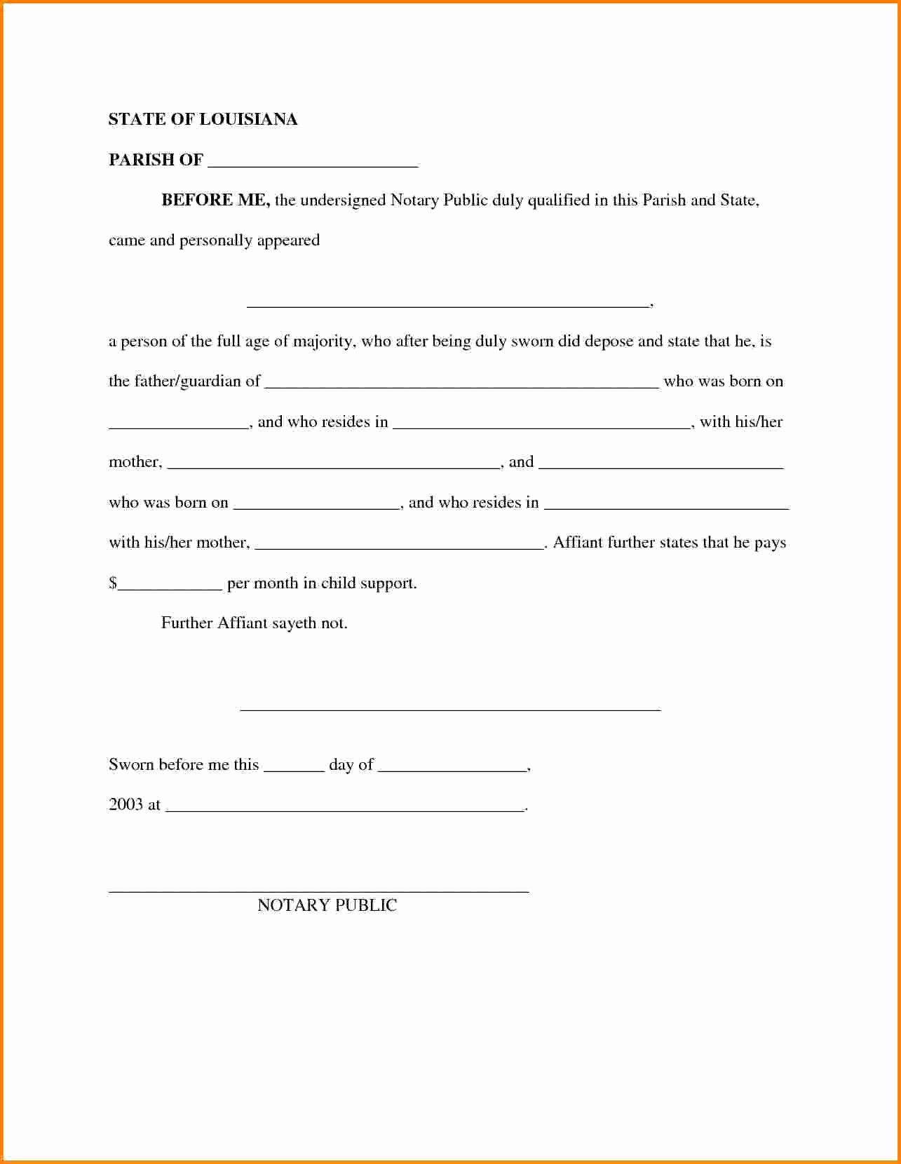 Child Custody Agreement Template