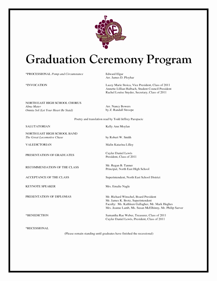 Free Printable Church Program Templates Or Graduation Ceremony Program Template Invitation Template