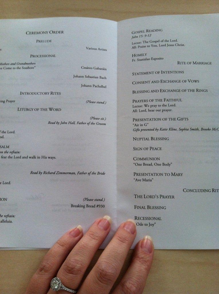Church Wedding Ceremony Program Template