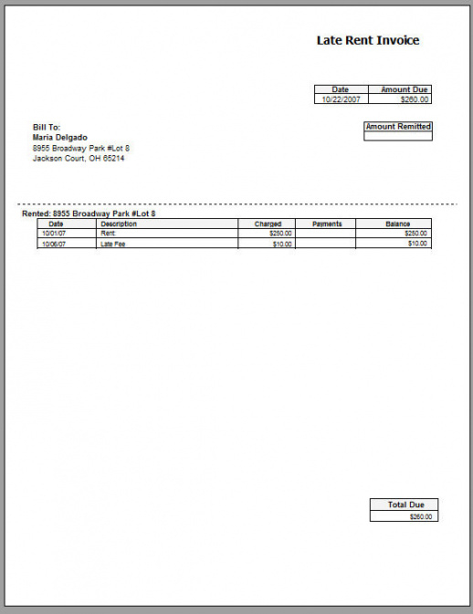 Rent Invoice Template | Free Printable Invoice Commercial Rent Invoice Template