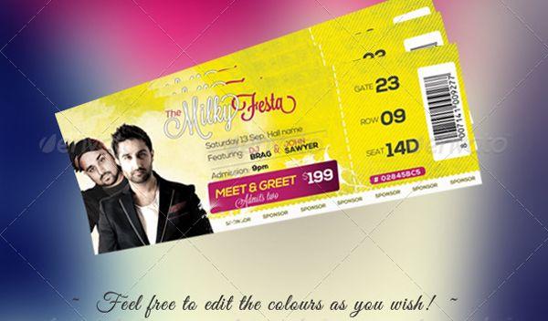 Concert Ticket Template Psd