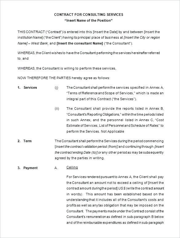 Consulting Contract Template Ontario