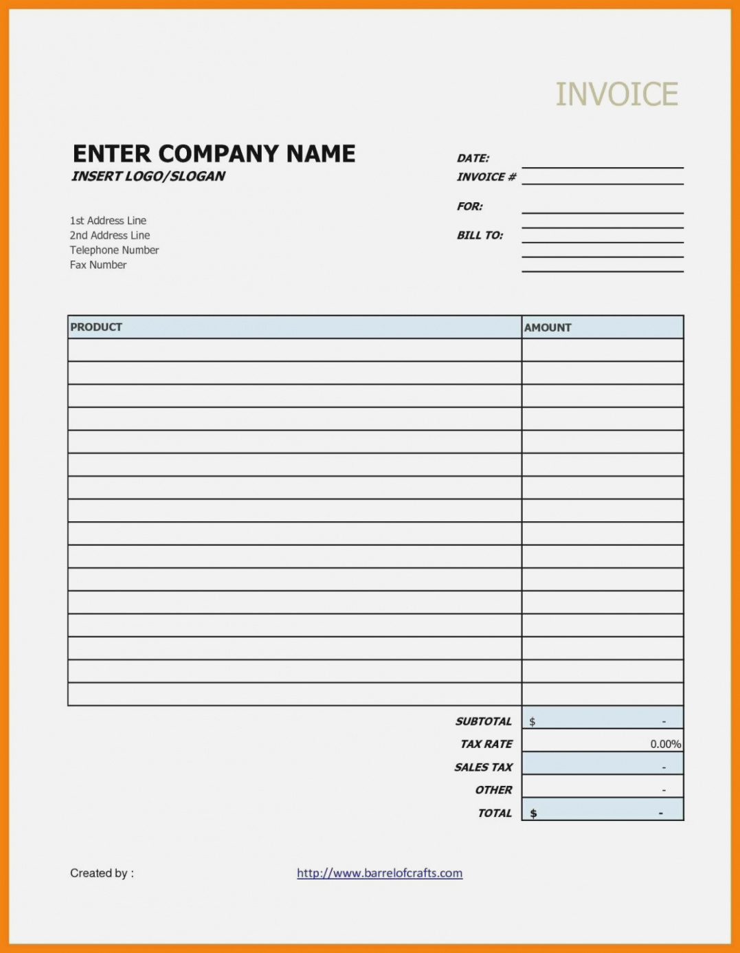 Blank Invoice Template Google Docs | Spreadsheet Collections Contractor Invoice Template Google Docs