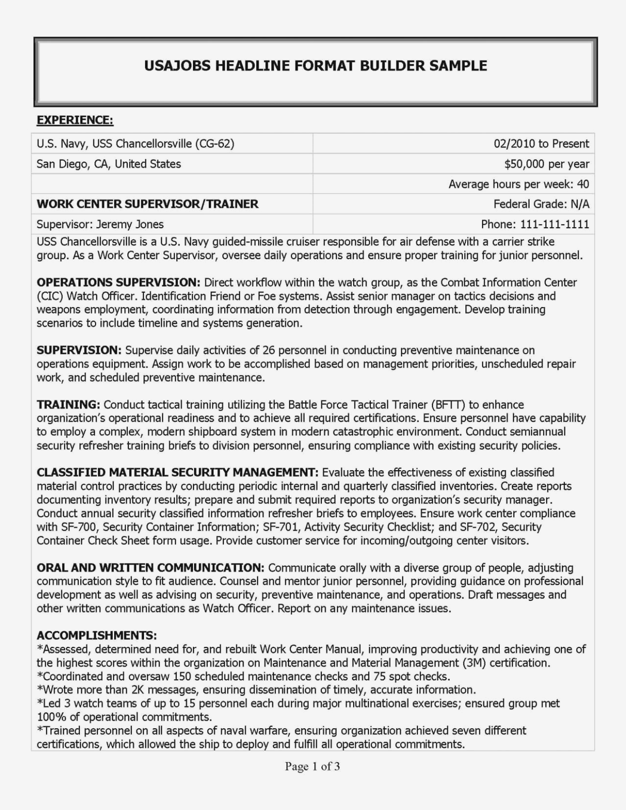 Convert Military Resume To Civilian