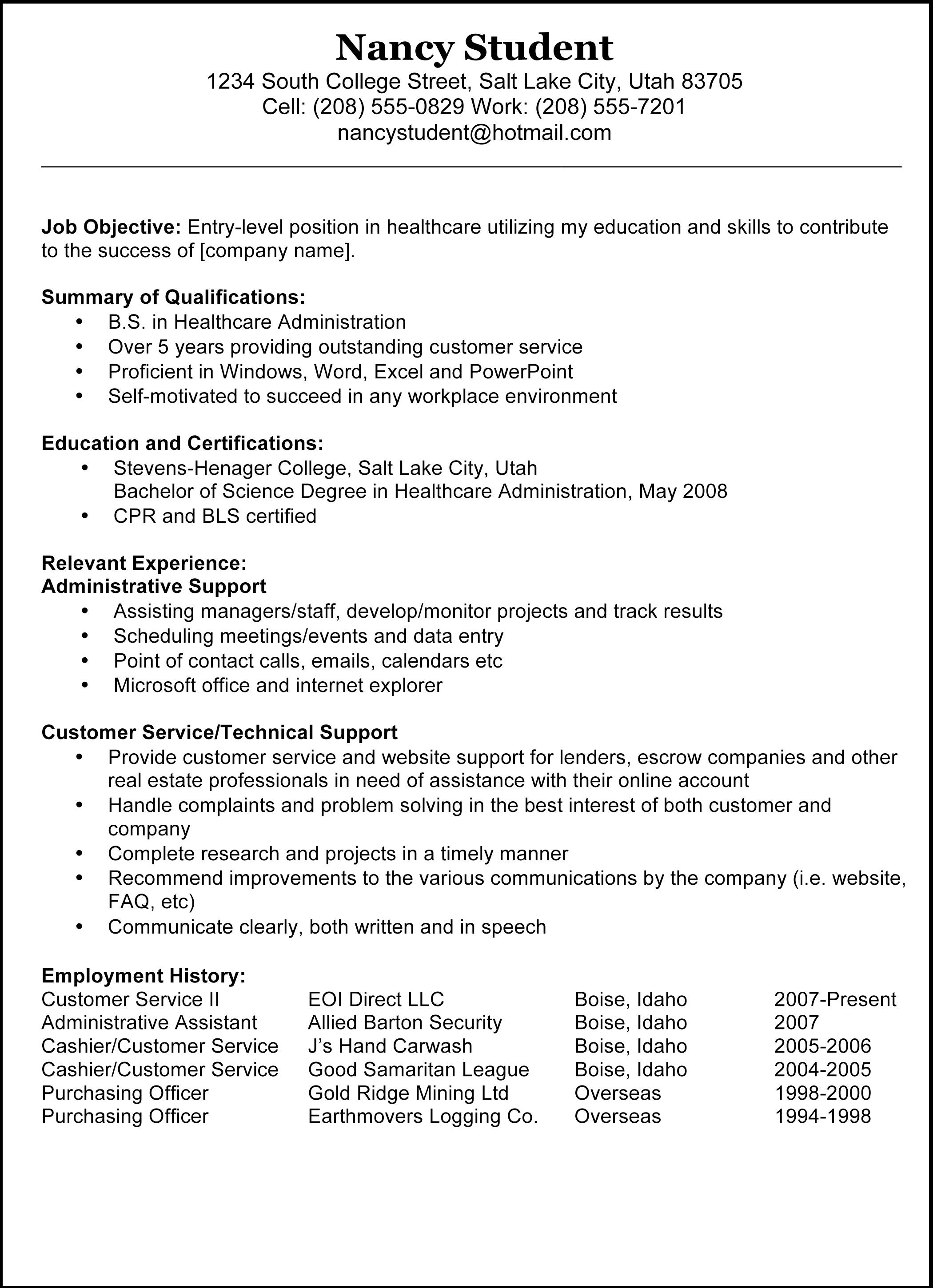 Copy And Paste Resume Template For Word