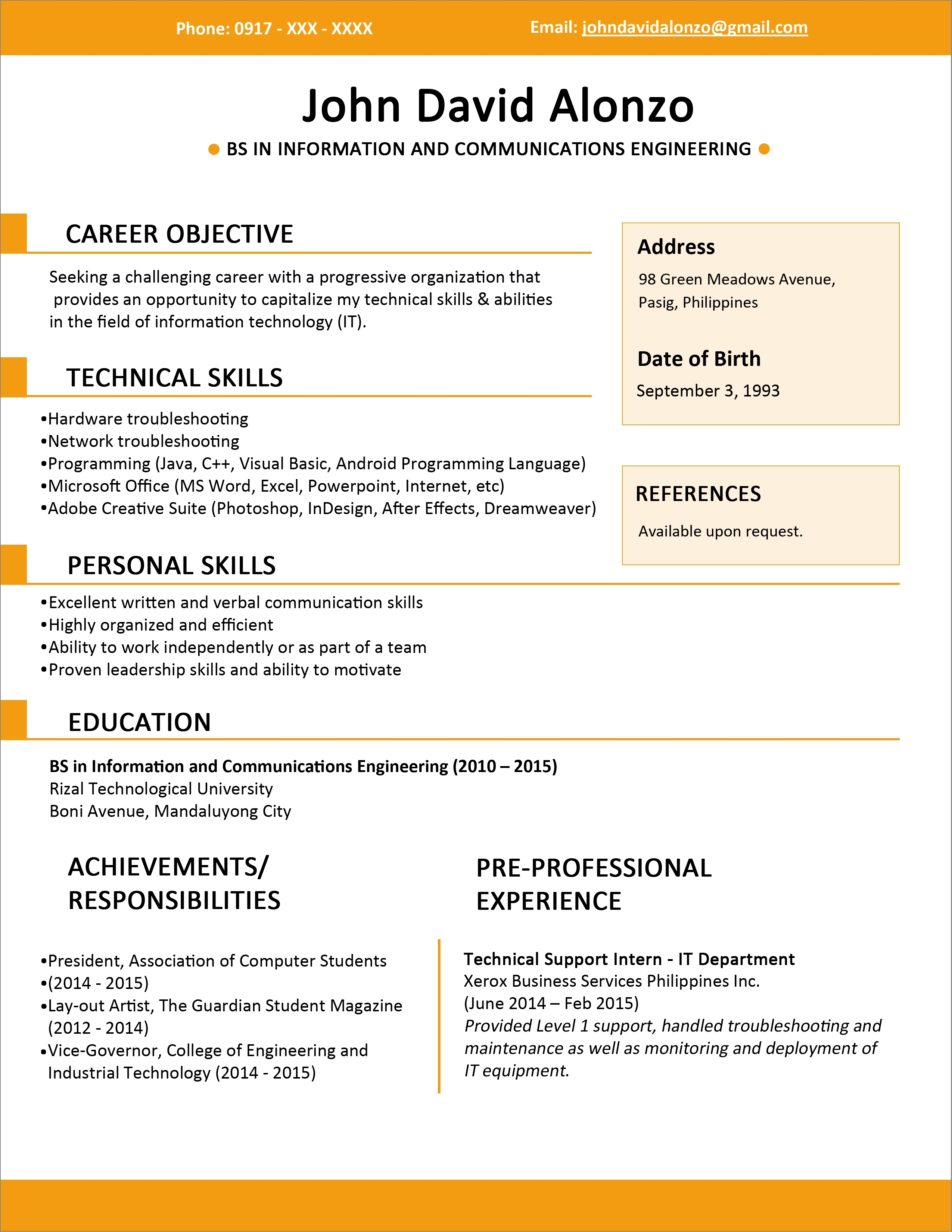 Create Resume Online Free Download