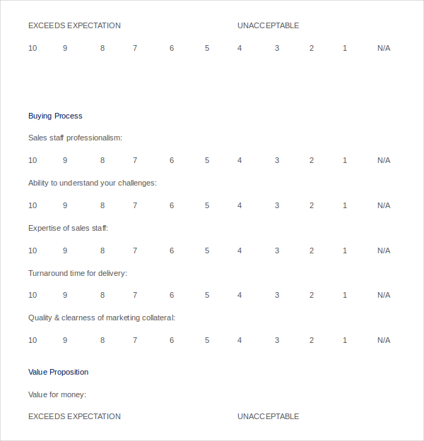 Customer Satisfaction Survey Template Word Doc