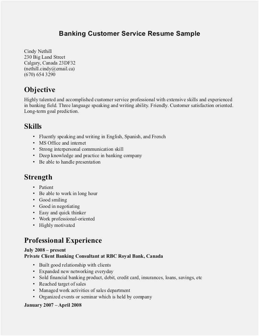 Free Collection Resume Templates 2018 Canada New Customer Service Resume Template Simple