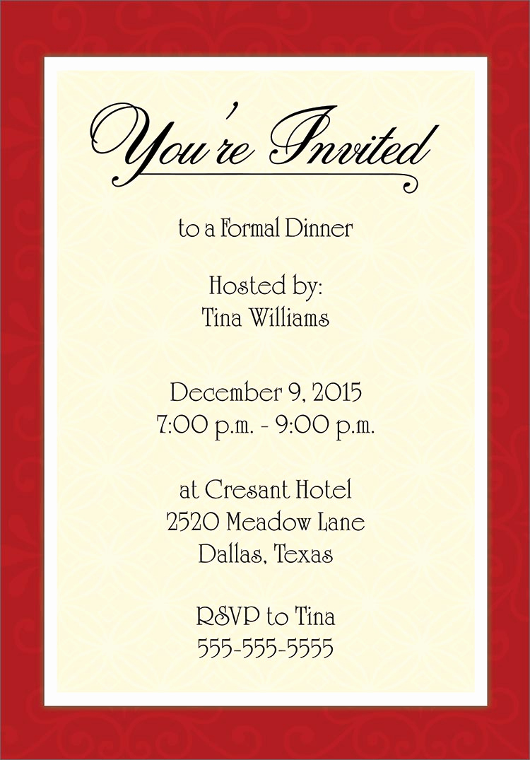 Formal Dinner Invitation Template Free Unique Invitation Template Category Page 1 Efoza