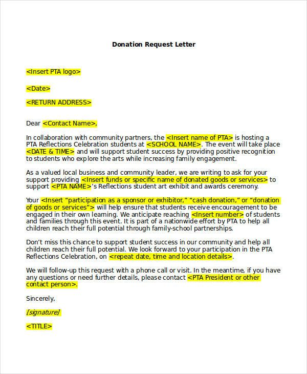 Request For Donation Letter Template And 41 Request Letter Templates Pdf Doc